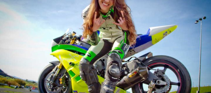 How can a female become a professional motorcycle racer?